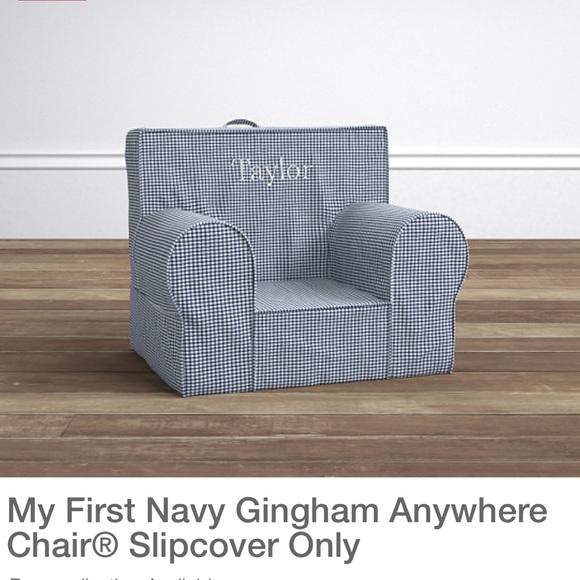 Pleasing Nwot Pbk My First Anywhere Chair Navy Slipcover Nwt Uwap Interior Chair Design Uwaporg
